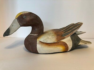 Vintage Decorative Duck Decoy Hand Painted 19 00 Picclick