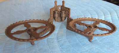 Victorian Wall Hanger/Holder ( Lamp/Plant); Cast Iron with Original Paint;  VGC