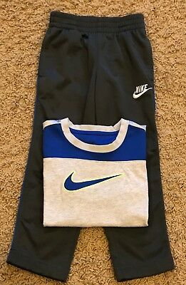Nike Boys Size 4 Outfit Gray & Blue