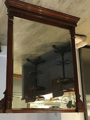 Large Framed Antique Wall Mirror