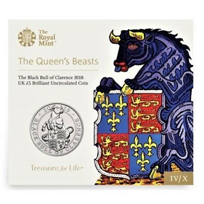 The Queen´s Beasts - £5 Blisterserie **Black Bull of Clarence 2018** (IV von X)