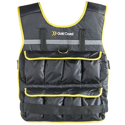 Gold Coast 20kg Adjustable Weight Vest Gym Home Workout Training Equipment