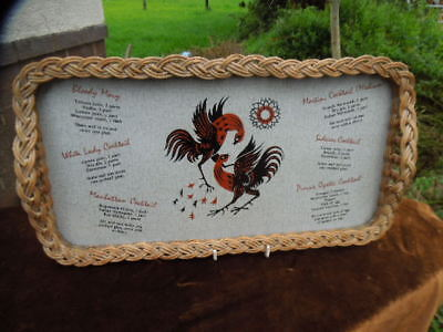 Vintage Retro - Cocktail Tray - Cocktail Recipes