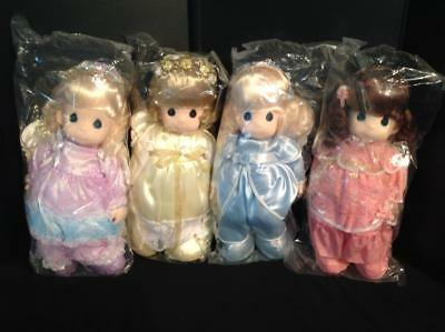 4 Precious Moments Dolls Faith, Hope Charity & Love New in Bags (1994) Lot 1/11