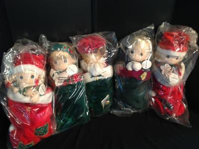 5 Precious Moments Dolls - Christmas Themed New in Bags (1994) Lot 2/11