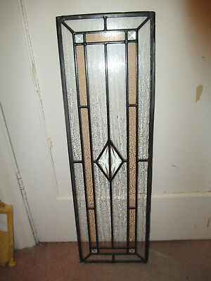 Set of four stained glass leaded door or window decorative panels vintage