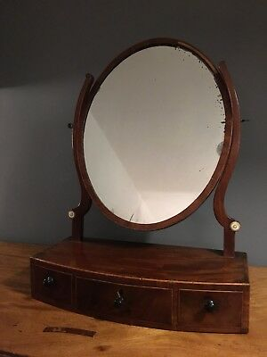 antique oval dressing table mirror