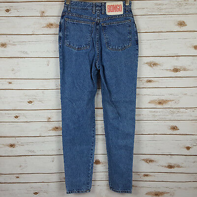 Vintage BONGO Size 9 Tapered Slim Skinny High Rise Waist Jeans 26 x 29.5 USA