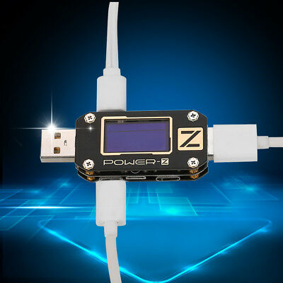 USB Volt Current Voltage Doctor Charger Capacity Tester Meter Power Bank 4-15mA