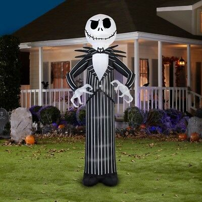 inflatable jack skellington nightmare before christmas yard halloween decor jpg 400x400 halloween ramdom2 outdoor decorations www