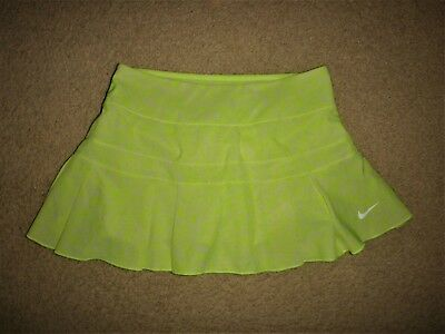 New Nike Xs Womens Tennis Skort Tennis Skirt Dayglo Yellow / Silver Shop Quality