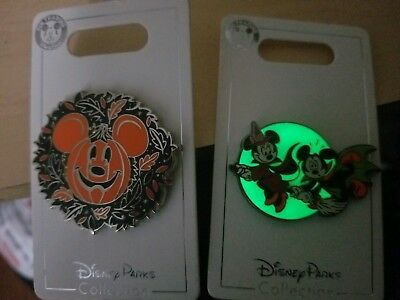 Disney Halloween 2018 2 Pin Set Mickey Minnie Donald Pluto dsf ptd d23 wdi