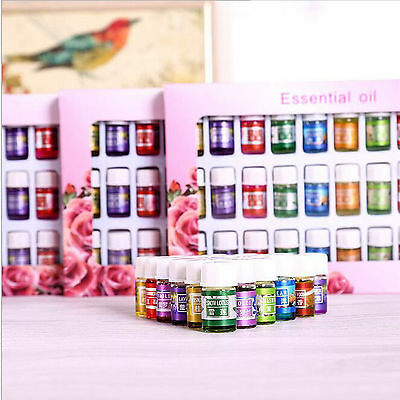 36PCS 12 Scents Kit 3ml Water-soluble Aromatherapy Essential Oil Gift Set-USA