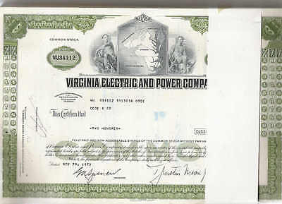 Virginia Electric and Power Co., 1960s, olive