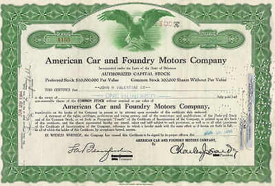 American Car and Foundry Motors Co., 1950s, green
