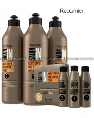 Braziliss Kerat-in SalonIn Recamier Professional No Volumen No frizz No Formol