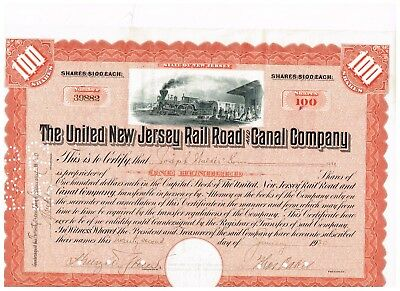 United New Jersey Rail Road & Canal Co., 1920, orange