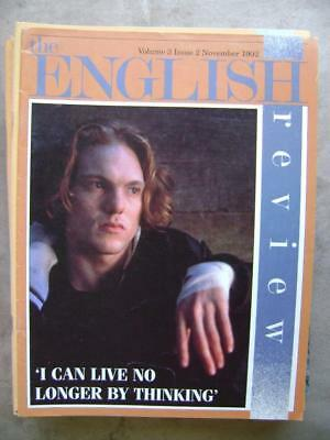 The English Review vol 3 no 2 - November 1992- very good condition