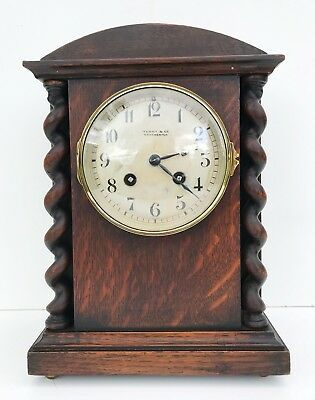 A French Solid Oak Striking Clock Top Quality Movement