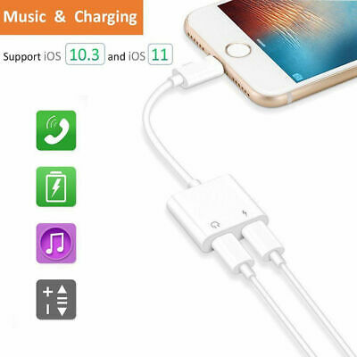Lightning to Lightning Headphone Jack Adapter Cable for iPhone X/Xr/Xs/Xs max/8