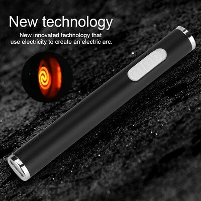 USB Electric Rechargeable Flameless Windproof Cigarette Lighter Dual Arc Cable