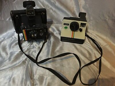 Joblot of vintage  Polaroid 1000 red button & instant land camera retro