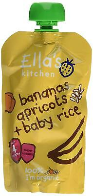 Ella's Kitchen Stage 1 Baby Rice - Banana & Apricot 120g (Pack of 7)