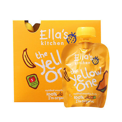 Ella's Kitchen Smoothie Fruit - The Yellow One Multipack (5x90g) (Pack of 6)
