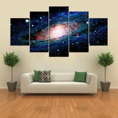 5P Space Planet Galaxy Home Room HD Canvas Print Picture Wall Art Painting Decor