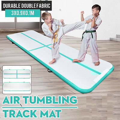 10x3Ft Airtrack Air Track Floor Home Inflatable Gymnastics Tumbling Mat GYM US M