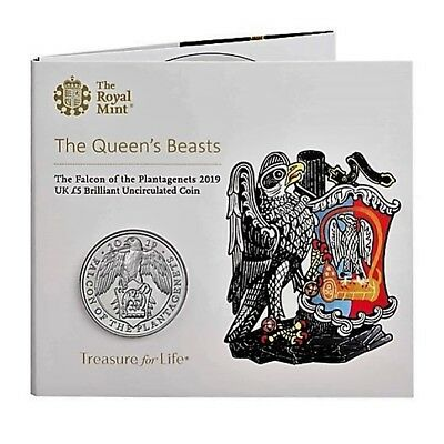 The Queen´s Beasts - £5 Blisterserie *Falcon of the Plantagenets 2019* (V von X)