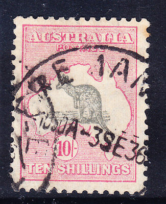 AUSTRALIA 1932 SG136 10/- grey & pink wmk C of A - good to fine used. Cat £150