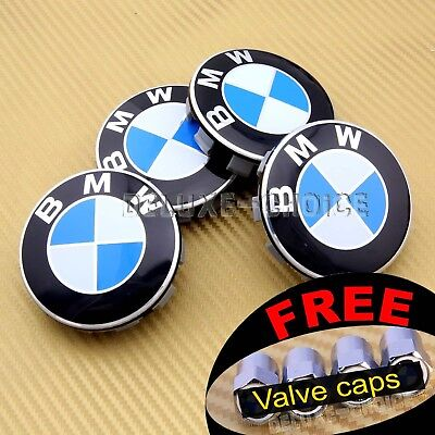 4 CAR ALLOY WHEEL HUB CAP CENTER CENTRE BADGE LOGO CREST 69MM FACE USA US seller