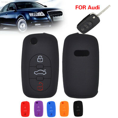 0548 B5D5 for Audi Silicone Key Case Remote Fob Cover Foldable Silicone 3 Button