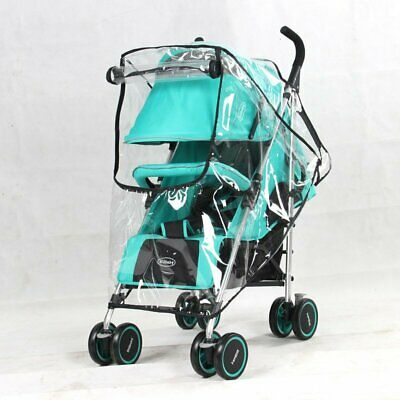 Bay Child Pram Buggy Pushchair Stroller RainCover Rain Wind Dust Cover with Zip
