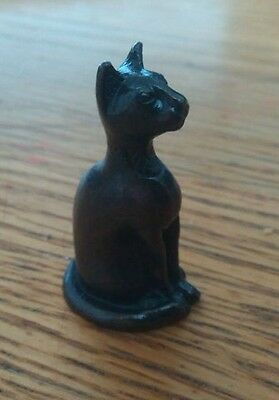 Small bronze cat figure, Egyptian style