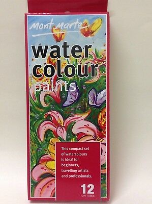 Water colours paints - set of 12- 12ml tubes each