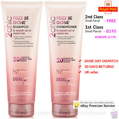 Giovanni Frizz Be Gone SHAMPOO and CONDITIONER DUO SET 250ml each
