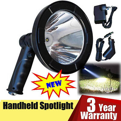 CREE LED 250000LM Rechargeable Spotlight Hunting Hand Held Torch Spot Light Camp