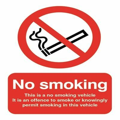 Safety Sign This is a No Smoking Vehicle 100x75mm Self-Adhesive  [SR11176]