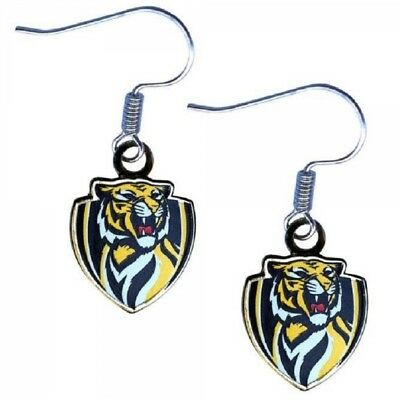 Richmond Tigers Earrings Official AFL Team Colours Logo Jewellery