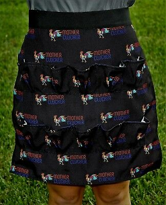 Chicken Egg Gathering Collecting Apron, Rooster Print Cute MOTHER CLUCKER NEW