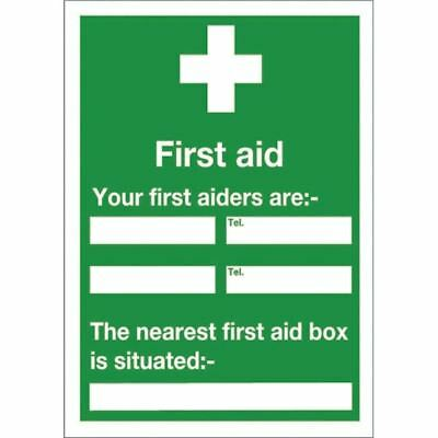 Safety Sign First Aid 600x450mm Self-Adhesive E91A/S [SR71230]