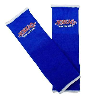 Yokkao Blue Ankle Guards (pair) Muay Thai MMA Protection Anklet