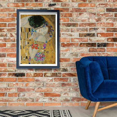 Gustav Klimt - The Kiss (detail) Wall Art Poster Print