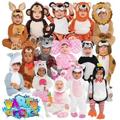 Baby Toddler Animal Costume Boys Girls Zoo Fancy Dress Infant Jumpsuit Kids