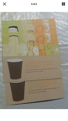 10 STARBUCKS Recovery Drink Card Voucher FREE Any Size Drink NO Expiration Date!