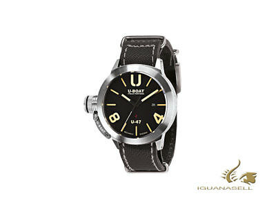 U-Boat Classico Automatic Watch, Stainless Steel 316L, Black, 47mm, 8105
