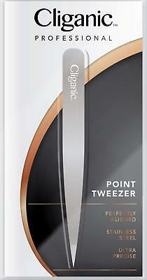 4 Piece Professional Tweezers Set with Case Stainless Steel Best Precision