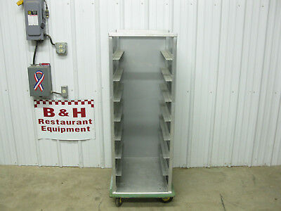 """Cres Cor Closed Sides Mobile Bakery Hospital Food 16 3/4"""" Tray Rack Cabinet Cart"""